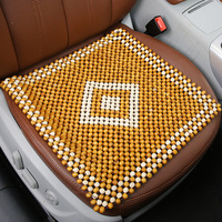 Wooden Beads Car Seat Cover Cool Car Seat Cushion Sofa Chair Vehicle Insulation Pad Covers Office