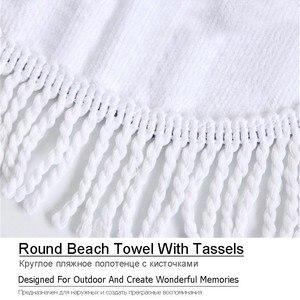 Image 5 - Lotus Mandala Printed Round Beach Towel Microfiber Towel Adults Summer Yoga Large 150cm Toalla Bath Colorful Serviette De Plage