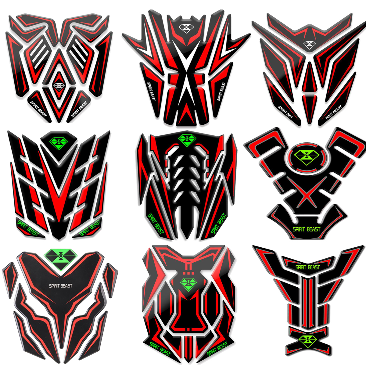 Reflective 3D Motorcycle Sticker Moto Gas Fuel Tank Protector Pad Cover Decoration Decals For Honda For Yamaha Etc