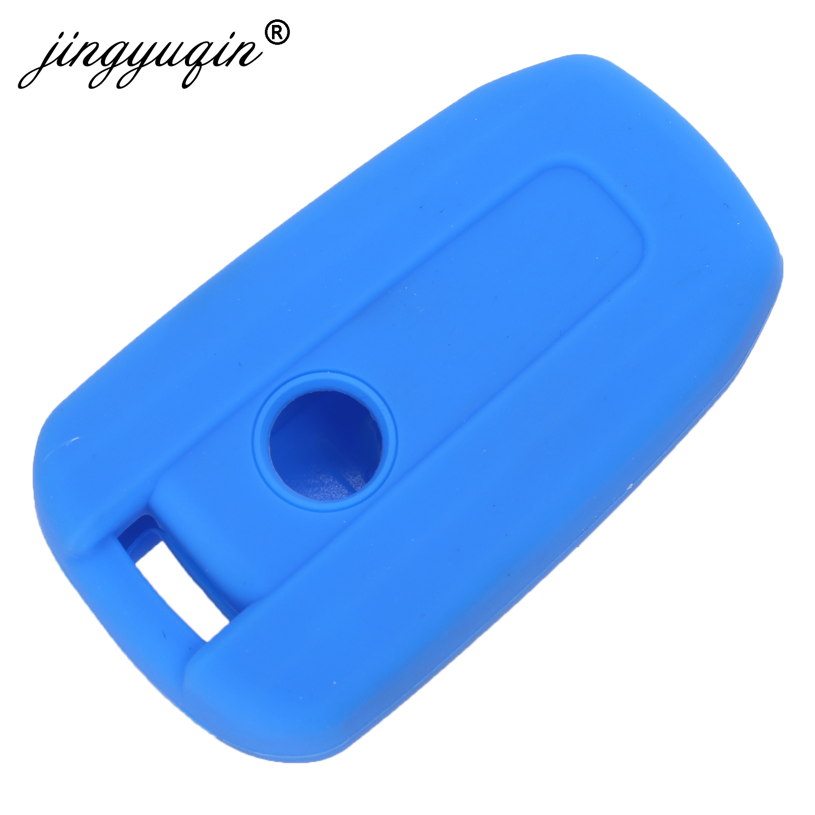 Image 4 - jingyuqin Silicone Car Key Cover FOB for Ssangyong Tivolan Actyon Kyron Korando Rodius Remote Key Case Car styling 3/4 Button-in Key Case for Car from Automobiles & Motorcycles