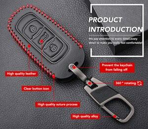 Image 4 - حافظة مفاتيح السيارة من الجلد الأصلي لهواتف جيلي أطلس بويو NL3 EX7 Emgrand X7 EmgrarandX7 SUV GT GC9 borui حافظة مفاتيح السيارة عن بعد