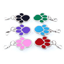 Pet Collar Footprint Shape Pendant Stainless Steel Cat Dog Puppy Choker Necklaces Accessories 669(China)