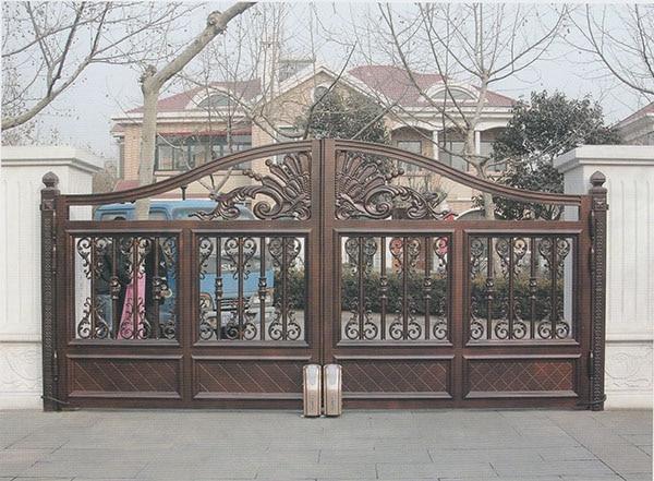 Home Aluminium Gate Design / Steel Sliding Gate / Aluminum Fence Gate Designs Hc-ag9