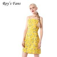 Roy's Fani Kobiety Moda Sukienka Drukarnie Spaghetti Strap Mini Sukienka Do Kostek Kwiat Wzór I Łuk Dorywczo Słodka Suczka sukienka Dziewczyny