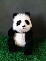 simulation chinese panda large 32x27x23cm model ,lifelike sitting pose panda toy model decoration gift t463