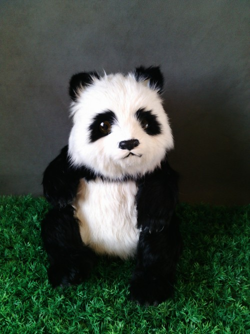 simulation chinese panda large 32x27x23cm model ,lifelike sitting pose panda toy model decoration gift t463 simulation animal large 28x26cm brown fox model lifelike squatting fox decoration gift t479