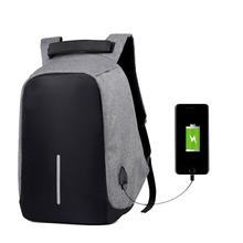 Yesello USB Charge Backpack Computer Bag 15.6 Inch Female Laptop Bags Male Casual Anti-theft Backpacks