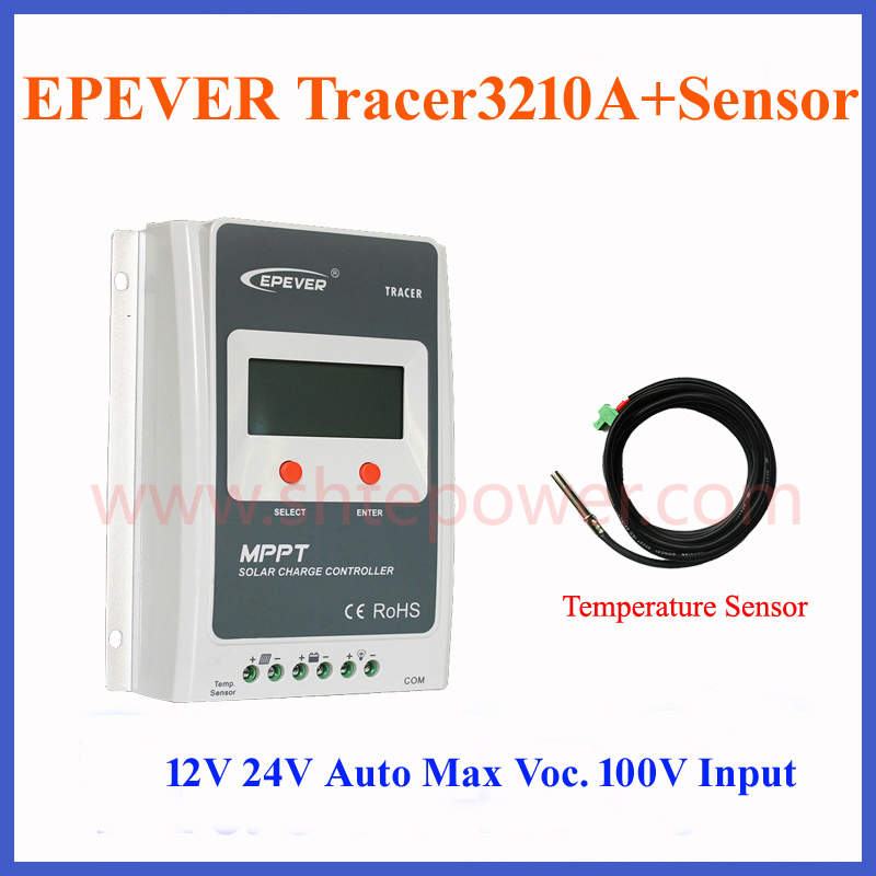 EPsolar  MPTT tracer3210A 12V/24V Price Solar Charge Controller MPPT 30A with 2 Years Warranty with Temperatur Sensor epsolar tracer mppt 20a 2215bn solar charge controller solar tracker controller for renewable energy system