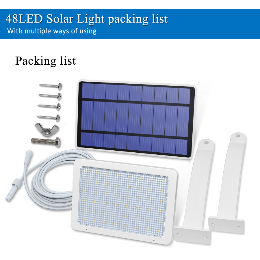 800lm Solar Outdoor Light for with 48 LED With Adjustable Lighting Angle for Garden and Yard Security 10