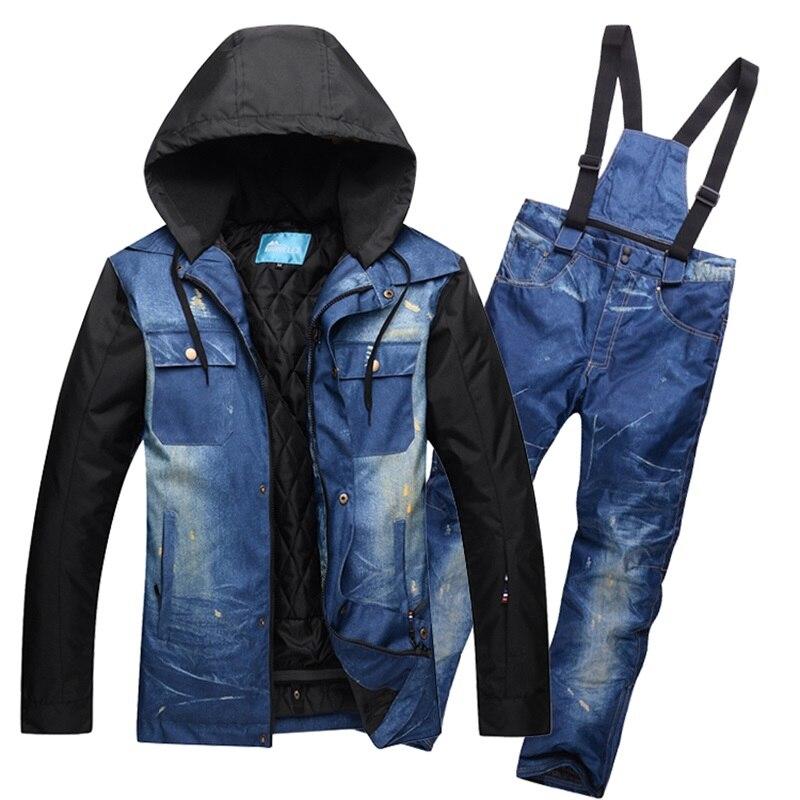Singolo e doppio bordo di Inverno Giacca Da Sci Pantaloni Uomini Snowboard Vestiti Super Impermeabile E Traspirante Sci Giubbotti Maschio