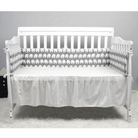 Crib Enclosure Railing Padded Woven Baby Bed Cushion Anti Collision Variety Of Color Pattern Cradle Decoration