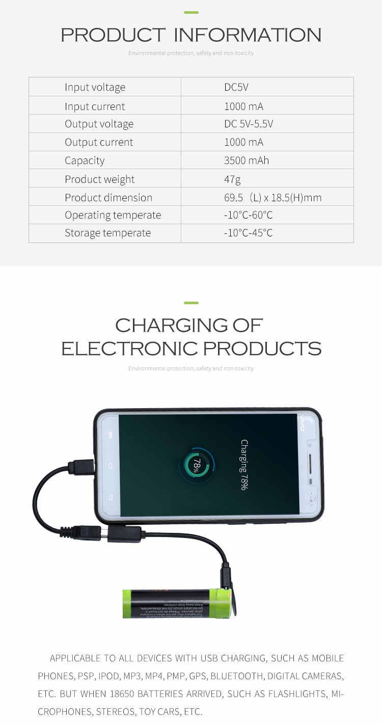3500 MAH USB 3.7 V 18650 بطارية 5000 MAH ل SmarPower البنك شاحن بطارية PortableN aa بطارية قابلة للشحن ncr18650b