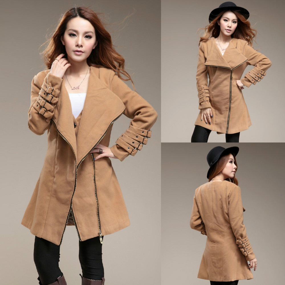 Fashion Long Sleeved Thick Winter Wool Coat For Women,Coats Women ...