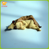 LXYY nuovo bella foglie a pelo elf stampo in silicone mini bambino sapone muffa del sapone della muffa di compleanno bambola vacanze strumenti fondente stampi