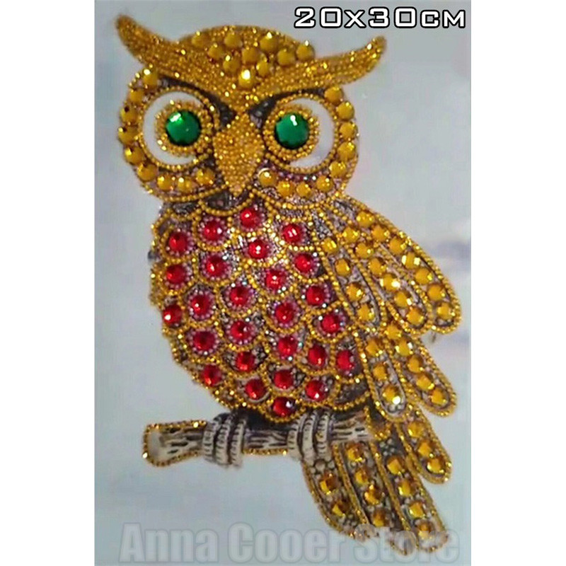 Special Shapes, Diamond Embroidery, Cartoon Owl, Patterns, Rhinestones, 5D, DIY Diamonds, Cross-stitch, Semi-finished, Decor--01