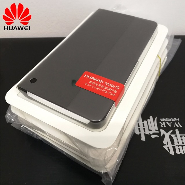 online store a579f 82882 For huawei mate 10 case 100% original flip cover smart view synthetic PU  leather phone shell for huawei mate 10