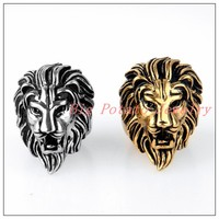 Wholesale Retail Punk Hiphop Jewelry Men S Jewelry 316L Stainless Steel Silver Gold Lion King Cool