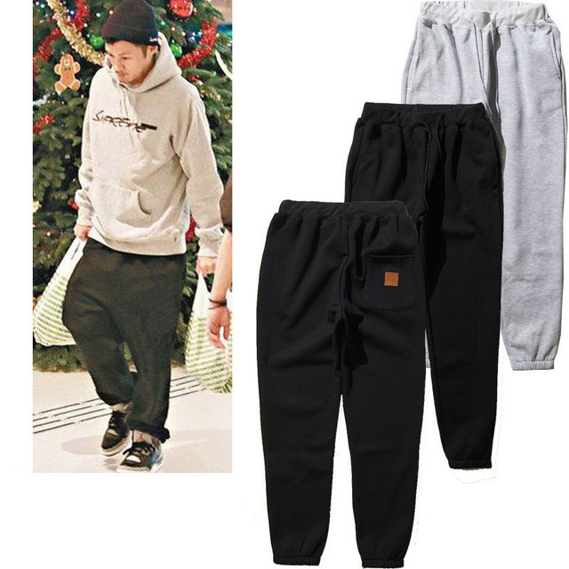 5924a068 Fashion casual cargo pants men full length suprem clothing black grey  pencil pants cotton comfortable joggers trousers z10