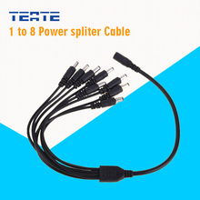 TEATE CCTV Cameras Power Feed Splitter Cable 1 to 8 DC Plug Cable in DVR Security System TE-G04CAB