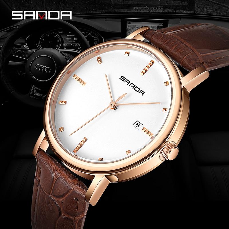 6bd381a7621 SANDA Negócio Relógio de Quartzo Homens Relógios Top Famosa Marca De Luxo  Masculino Relógio de Pulso