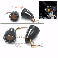 Motorcycle Accessories Black CNC Turn Signals Lights Indicator light Flasher LEDs For Harley Dyna, Softail , Sportster,Touring