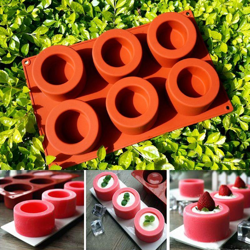 Σχεδιασμός κέικ 6 τρύπα Φορτ Σεούλ Meike Muffin φλιτζάνι σιλικόνης μούχλα σιλικόνης μολύβι bakeware Μπύρα Maker μούχλα κέικ δωρεάν αποστολή