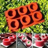 Fondant Cake Design 6 Hole Edenbo Pudding Muffin Cup Mold Silicone Nonstick Bakeware Family Baking Cake
