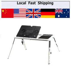 Portable laptop desk adjustable computer table bed sofa stand tray usb cool fans.jpg 250x250