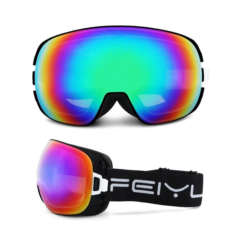 Lunettes de Ski adultes grandes lunettes sphériques hommes femmes escalade en plein air cyclisme Snowboard motoneige pour prévenir la neige lunettes aveugles