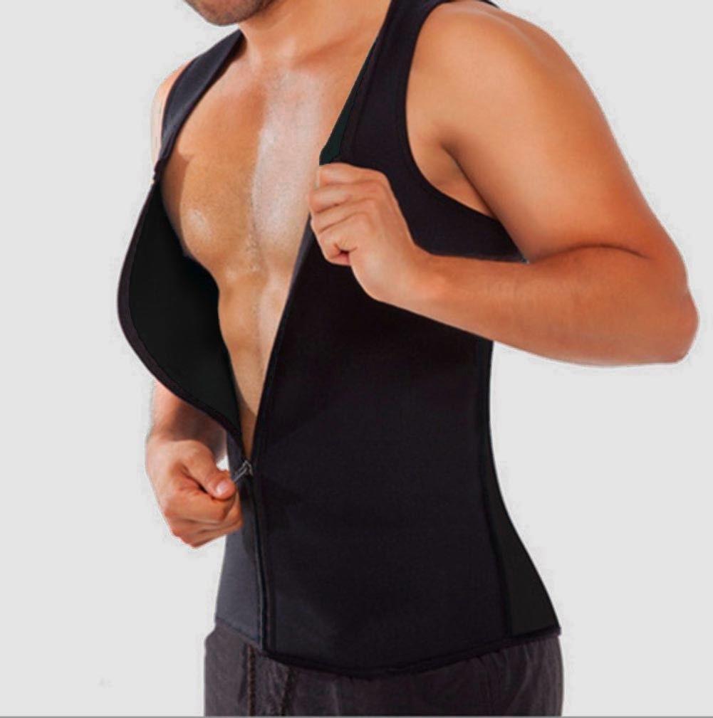Homens Camisa de Suor Do Corpo Shapers Colete de Neoprene Sauna Ultra fino Shaper Espartilho emagrecimento Shapers Roupa Interior dos homens de Fitness