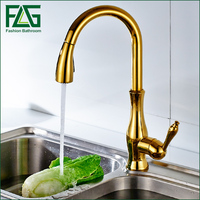Luxury Brass Gold Finishing Bathroom Gold Colour Swan Shape Water Tap Deck Mounted Single Hole Basin