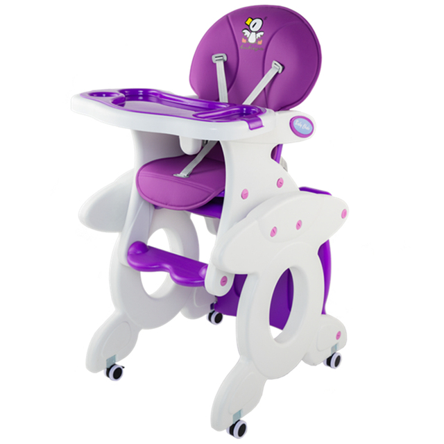 3 in1 baby feed chair, can be rocking chair, can be desk, cute baby high chair with free gifts, can load 60KG