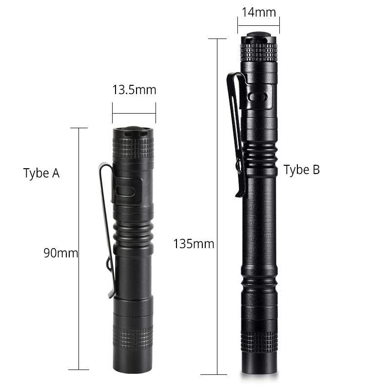 4 PCS Super Small Mini LED Flashlight Set Handheld Pen Light linterna Pocket Torch with High Lumens for Camping Fishing in LED Flashlights from Lights Lighting