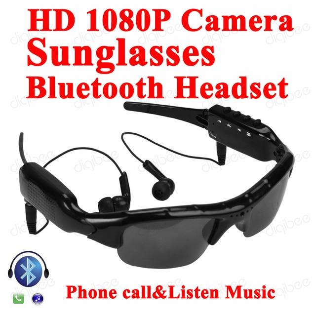 Multi-Função MP3 fone de Ouvido Bluetooth Fone de Ouvido com Microfone Da  Câmera Óculos f1f41b3a97