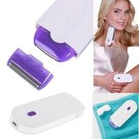 Для женщин лица для удаления волос Перезаряжаемые Эпиляторы боль бесплатно удаления волос Sensa-светло-Технология сейф с USB