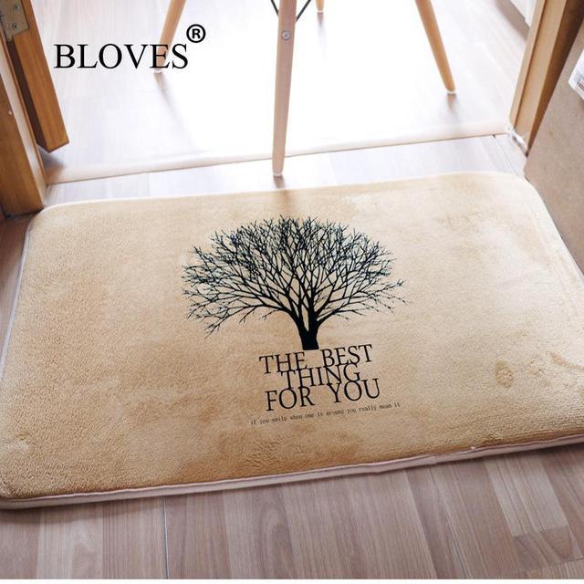 Original Design Tree Printed Carpet Entrance Door Mats Outdoor For Front Carpets