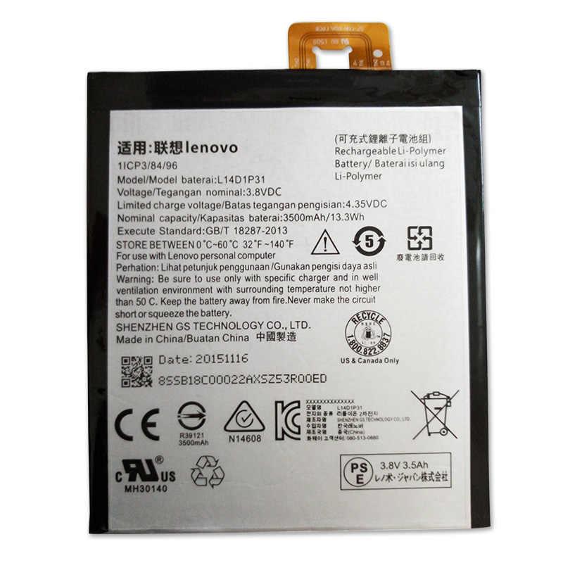 Jinsuli 3.8 โวลต์ 3500 มิลลิแอมป์ชั่วโมง L14D1P31 สำหรับ Lenovo PB1-770N PB1-770M PHAB Plus