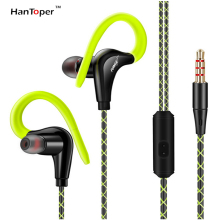 HanToper Earphone Sport Earbuds Stereo Headphones For Apple Xiaomi Samsung Music Cell Phone Running Headset With HD Mic