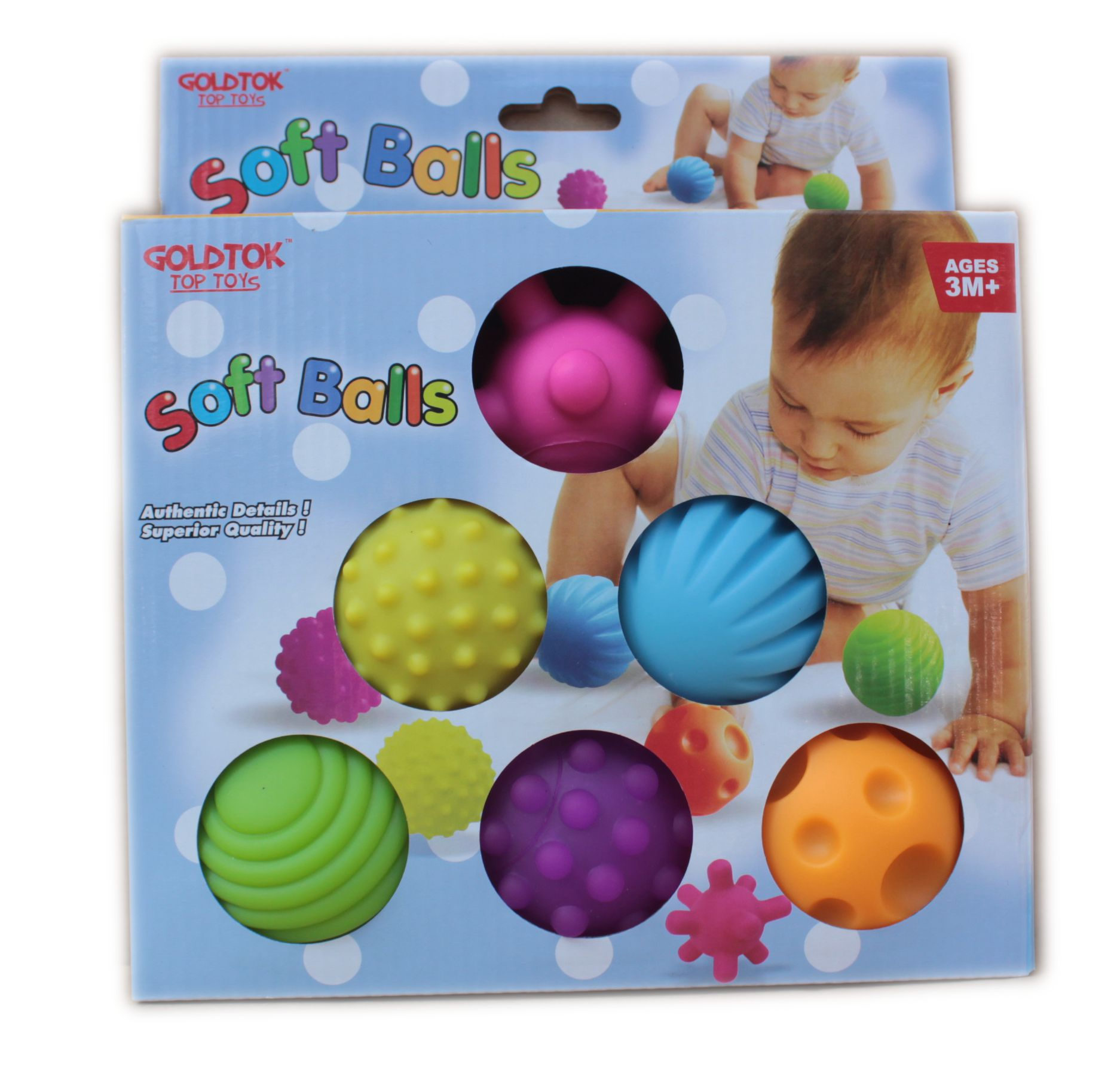 Squishy Baby Ball : 6Pcs/Set Soft Ball Colorful Baby Touch Hand Ball Toys Baby Training Ball Massage Soft Ball ...