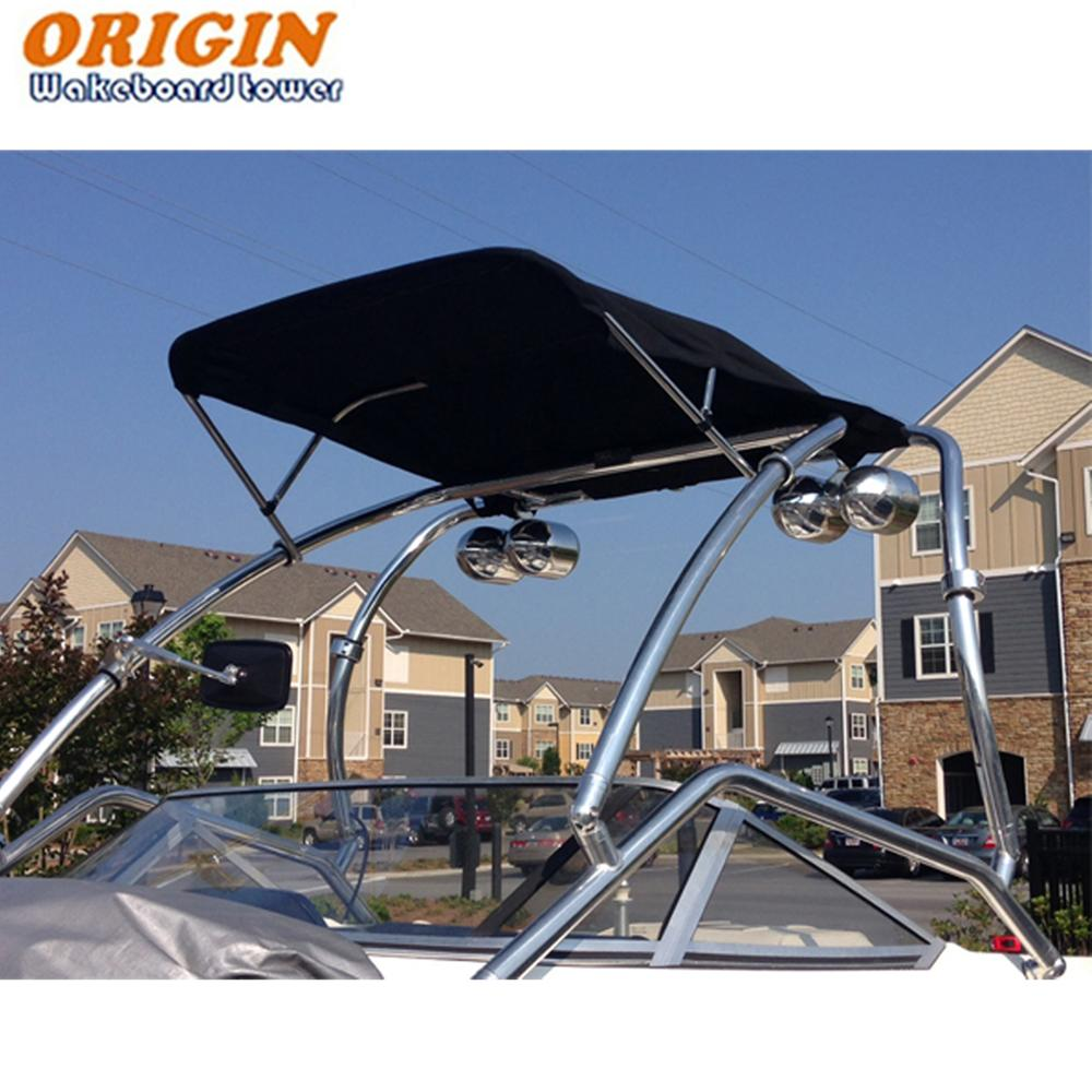 Origin OWT TBMI wakeboard tower bimini 1870 version Black canopy