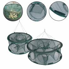 New Round 6/8 Hole Automatic Fishing Nets Folded Portable Shrimp Trap Fishing Net Mesh Cage 2018 new fishing net 4 6 8 12 16 hole folding portable automatic fishing shrimp trap fish minnow crab baits cast mesh trap
