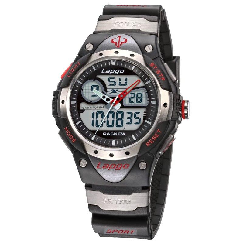 Лидирующий бренд PASNEW часы профессиональные мужские спортивные часы двойной дисплей аналоговые цифровые кварцевые часы 100 метров водонепроницаемые погружные часы|Спортивные часы|   | АлиЭкспресс