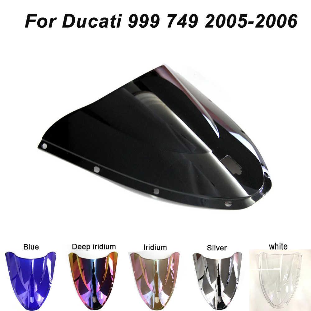 Motor Kaca Depan Kaca Depan Sekrup Baut Aksesoris Untuk Ducati 999 749 2005 2006 Iridium Deflectors Angin