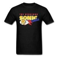 Männer the hedgehog sonic comics hemd luxus sommer heißer verkauf Pop Tops Lustige t-shirt Diy Ausgestattet Rundhals Teenager Causual kleidungsstück