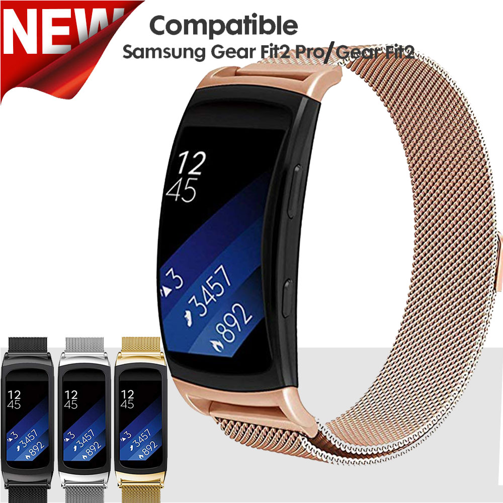 Milanese Magnetic Strap for Samsung Gear Fit 2 SM-R360 Band Stainless Steel Bracelet for Samsung Gear Fit 2 Pro WatchbandMilanese Magnetic Strap for Samsung Gear Fit 2 SM-R360 Band Stainless Steel Bracelet for Samsung Gear Fit 2 Pro Watchband