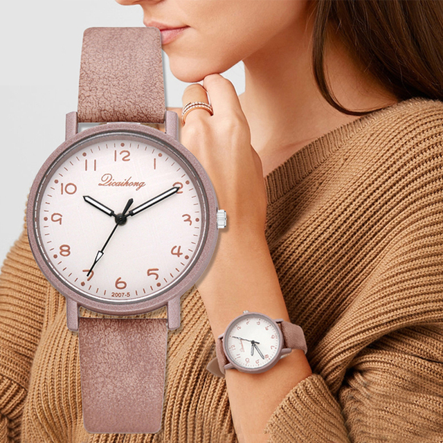 2018 Women's Watches Fashion Leather Wrist Watch Women Watches Ladies Watch Cloc