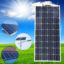 20V 100W Monocrystalline Solar Panel Semi Flexible Efficiency Panel Solar Module Charger For RV Boat 12V Battery Charger