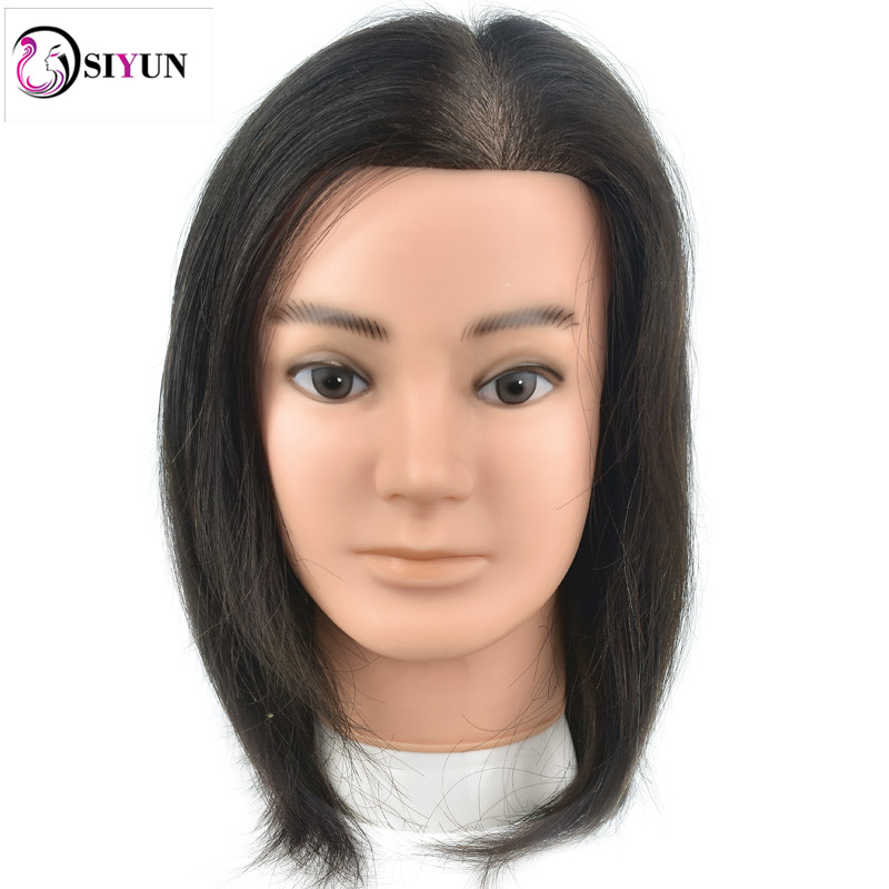 Newest Japan Male 10 Hairdresser Mannequin Head Real Human Hair Hairstyle Training Head Salon School Practice Hairdressing Head