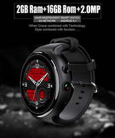 2017 New I4 Air Smart Watch 2MP Camera 2GB/16GB MTK6580 Android 5.1 Bluetooth GPS WiFi 3G Smartwatch Phone For Android&IOS