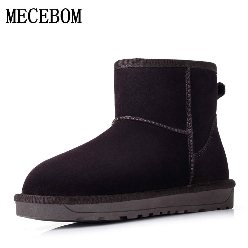 Women Snow Boots With Round Toe Flat Shoes Winter 2017 Split Female Warm Leather Ankle Boots For Women Australia footwear 5854W flat with bow ankle boots shoes style women boots round toe platform snow boots for women fashion flock short outdoor shoes